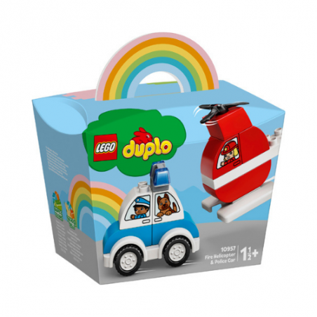 Lego Duplo Fire Helicopter and Police Car 10957