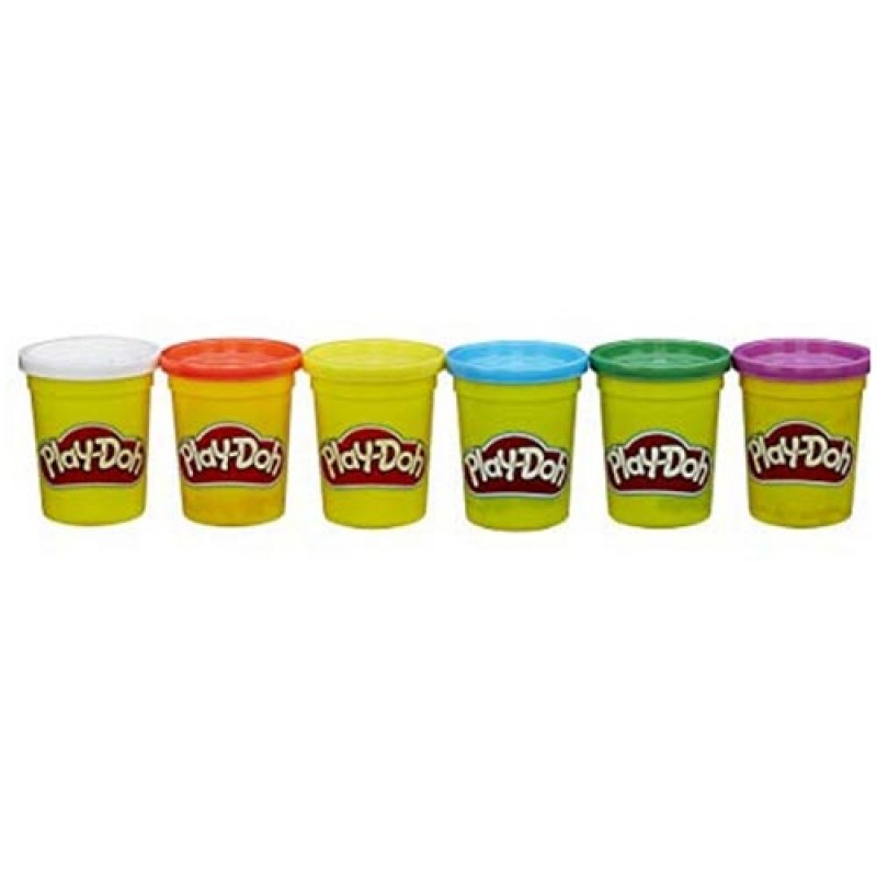 Play-Doh 4 Primary Colors Plus 2 Can Value Pack