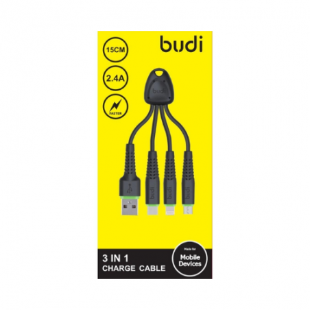 Budi 3 in 1 Charge Cable M8J150K