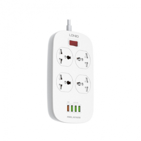 LDNIO Extention Cord with 4 USB Defender Series SC4407